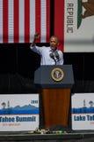 Prezydent Obama przy 20th Rocznym Jeziornym Tahoe szczytem 7 Fotografia Royalty Free