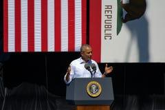 Prezydent Obama przy 20th Rocznym Jeziornym Tahoe szczytem 8 Zdjęcie Stock