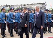 Prezydent osoby republika Chiny i prezydent Serbia Fotografia Royalty Free