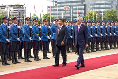 Prezydent osoby republika Chiny i prezydent Serbia Obraz Royalty Free