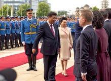 Prezydent osoby republika Chiny i prezydent Serbia Zdjęcia Stock