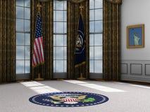 Prezydent, Prezydencki Owalny biuro, bielu dom Zdjęcie Stock