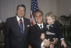 Prezydent Ronald Reagan i miłośnik Obrazy Royalty Free