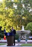 Prezydent Rumunia Klaus Iohannis Zdjęcia Stock
