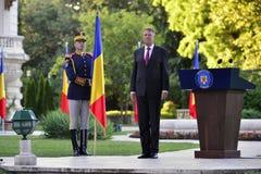 Prezydent Rumunia Klaus Iohannis Zdjęcie Royalty Free
