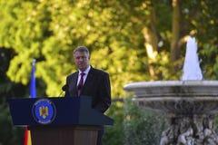 Prezydent Rumunia Klaus Iohannis Obrazy Stock