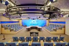 Prezydent sala w Międzynarodowym multimedii centrum zdjęcia royalty free