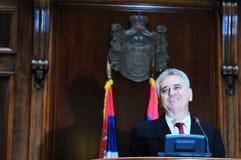 Prezydent Serbia Tomislav Nikolich Zdjęcie Royalty Free