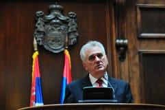 Prezydent Serbia Tomislav Nikolich Fotografia Stock