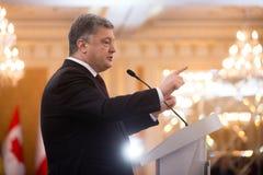 Prezydent Ukraina Petro Poroshenko Zdjęcia Stock