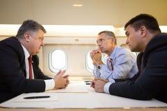 Prezydent Ukraina Poroshenko i NATO-WSKA sekretarka - generał Jens Fotografia Royalty Free