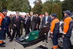 Prezydent Ukraina Poroshenko i NATO-WSKA sekretarka - generał Jens Zdjęcie Royalty Free