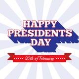 Prezydenta dnia tło USA patriotyczny szablon w kolorach flaga amerykańska ilustracji
