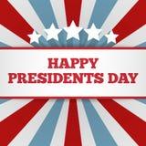Prezydenta dnia tło USA patriotyczny wektorowy szablon z tekstem, lampasami i gwiazdami w kolorach flaga amerykańska, royalty ilustracja