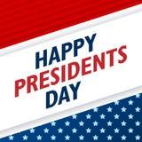 Prezydenta dnia tło USA patriotyczny wektorowy szablon z tekstem, lampasami i gwiazdami w kolorach flaga amerykańska, ilustracji