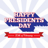 Prezydenta dnia tło USA patriotyczny szablon w kolorach flaga amerykańska Zdjęcia Stock