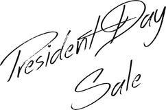 Prezydenta dzień sprzedaży teksta znaka ilustracja Fotografia Royalty Free