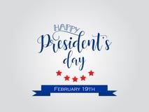 Prezydenta ` s dzień w usa tle graficzny projekt dla dekoracja plakatów, karty, prezent karty Obraz Stock