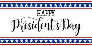 Prezydenta ` s dzień w usa tle graficzny projekt dla dekoracja plakatów, karty, prezent karty Zdjęcia Royalty Free
