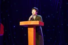 Prezydenta ` s mowy Pekin tana roczna akademia ocenia próbną znakomitą dziecka ` s tana nauczania osiągnięcia wystawę Jiangxi Zdjęcie Stock