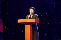 Prezydenta ` s mowy Pekin tana roczna akademia ocenia próbną znakomitą dziecka ` s tana nauczania osiągnięcia wystawę Jiangxi Obrazy Stock