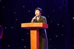 Prezydenta ` s mowy Pekin tana roczna akademia ocenia próbną znakomitą dziecka ` s tana nauczania osiągnięcia wystawę Jiangxi Fotografia Stock