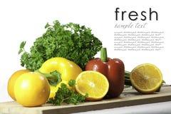 Prezzemolo arancione fresco e peperone dolce immagini stock