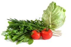 Prezzemolo dell'acetosa delle cipolle degli spinaci del pomodoro del cavolo Immagine Stock Libera da Diritti