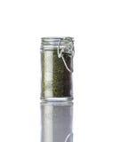 Prezzemolo secco verde su fondo bianco Fotografia Stock Libera da Diritti