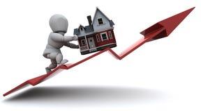 Prezzi aumentanti della proprietà royalty illustrazione gratis