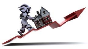 Prezzi aumentanti della proprietà Immagini Stock Libere da Diritti