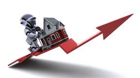 Prezzi aumentanti della proprietà Immagine Stock