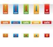 Prezzi da pagare colorati. Fotografia Stock Libera da Diritti