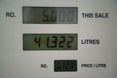 Prezzi del gas bassi alla pompa Fotografie Stock Libere da Diritti