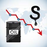 Prezzi del petrolio illustrazione vettoriale