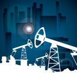 Prezzi del petrolio Fotografie Stock