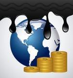 Prezzi del petrolio Fotografia Stock Libera da Diritti