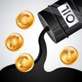 Prezzi del petrolio Immagini Stock Libere da Diritti