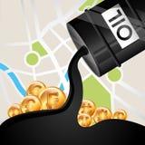 Prezzi del petrolio Fotografie Stock Libere da Diritti
