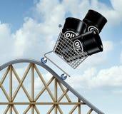 Prezzi del petrolio di caduta Immagini Stock