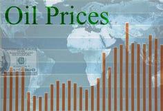 Prezzi del petrolio globali illustrazione di stock