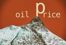 Prezzi del petrolio immagine stock