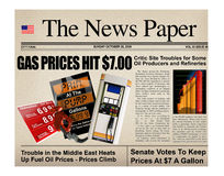 Prezzi del titolo della benzina Immagine Stock Libera da Diritti
