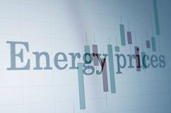 Prezzi dell'energia Fotografia Stock Libera da Diritti