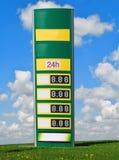Prezzi della benzina Fotografie Stock