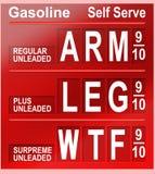 Prezzi della benzina Fotografia Stock Libera da Diritti