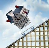 Prezzi della casa aumentanti Fotografia Stock Libera da Diritti