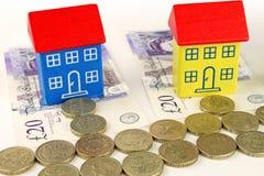 Prezzi della casa britannici Immagini Stock