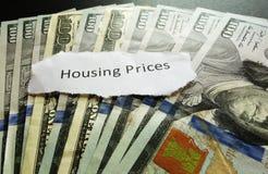 Prezzi di alloggio Immagine Stock