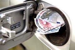 Prezzi di combustibile aumentanti Fotografia Stock Libera da Diritti
